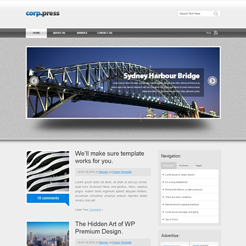 Template Image for CorpPress - Website Template