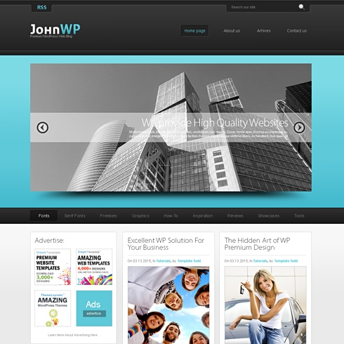 Template Image for Float 3D - HTML Template
