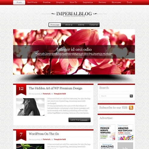 Template Image for Imperial-html - HTML Template