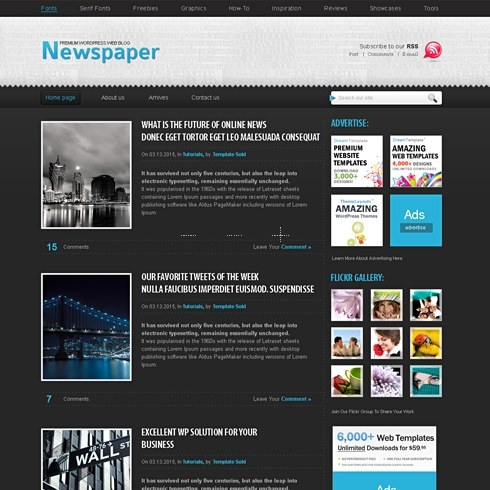 Template Image for iNewspaper - HTML Template