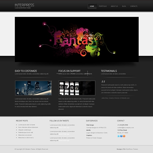 Template Image for InterPress - HTML Template