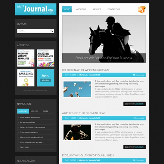 Journal - HTML Template - Blog Style - Website Templates ...