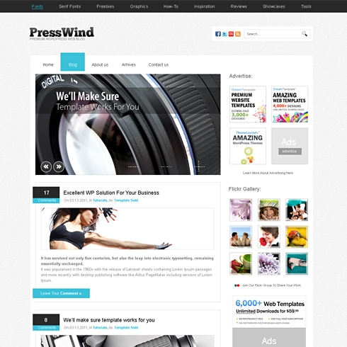 Template Image for PressWind - HTML Template