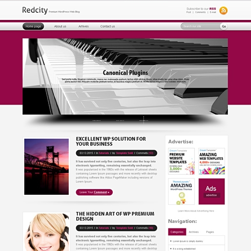 Template Image for RedCity - Website Template