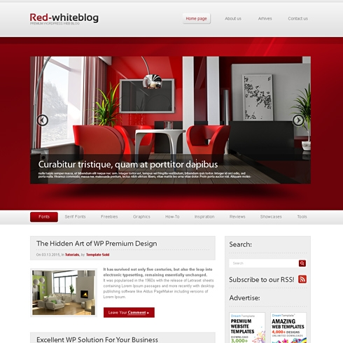 Template Image for RedWhite - HTML Template