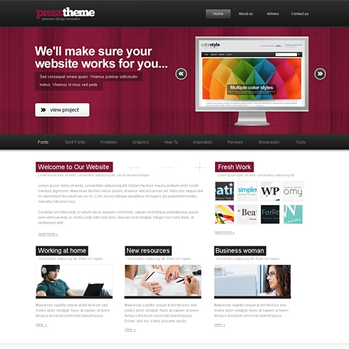 Template Image for ShowBiz - HTML Template