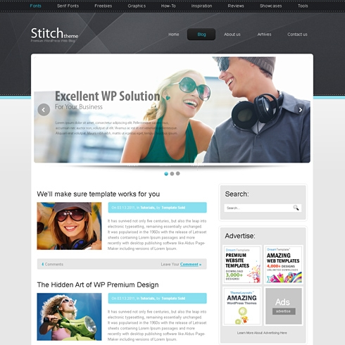 Template Image for Stitch - HTML Template