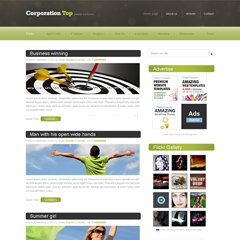 Template Image for TopCorp - HTML Template