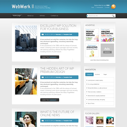 Template Image for WebMark - CSS Template