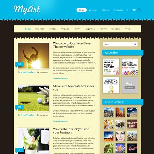 Template Image for Myart - HTML Template