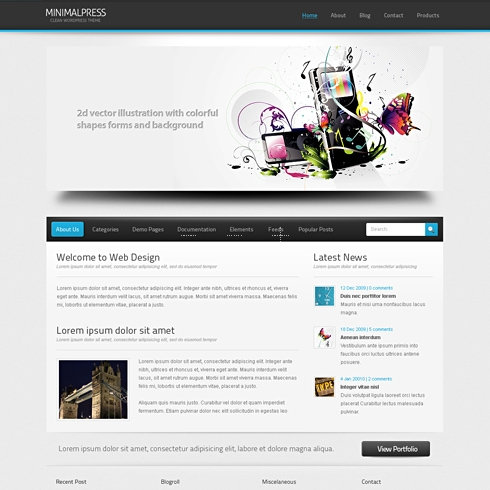 Template Image for MiniPress - HTML Template