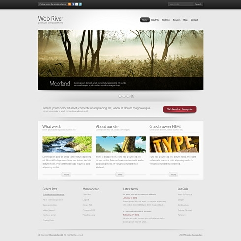 Template Image for WebRiver 3D - HTML Template
