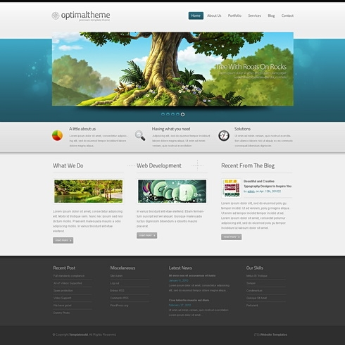 Striking 3D - HTML Template - 3D Templates - Website Templates ...