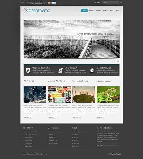 Template Image for DarkFusion 3D - HTML Template