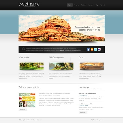 Template Image for Accentuate 3D - HTML Template