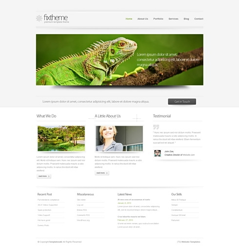 Template Image for Clearwhite 3D - HTML Template