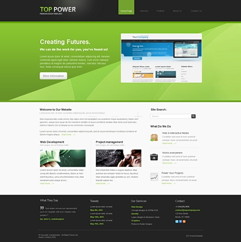 Template Image for Toppower 3D - HTML Template