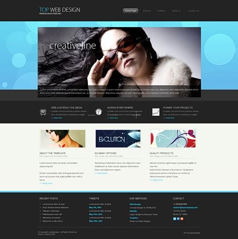 Calibra 3D - HTML Template - 3D Templates - Website Templates ...