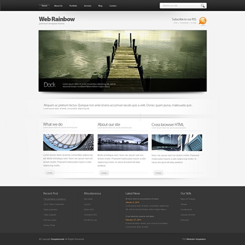 Template Image for WebRainbow 3D - HTML Template