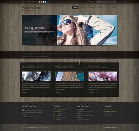Template Image for WebModern 3D - HTML Template