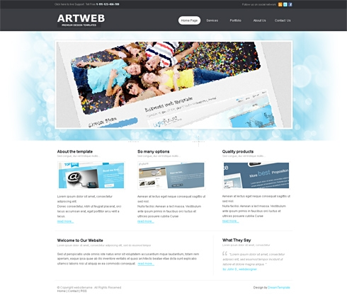 Template Image for Artweb 3D - HTML Template
