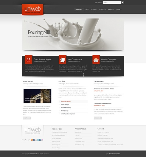 Template Image for Breeze 3D - Website Template