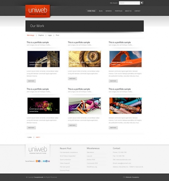 3D Website Themes