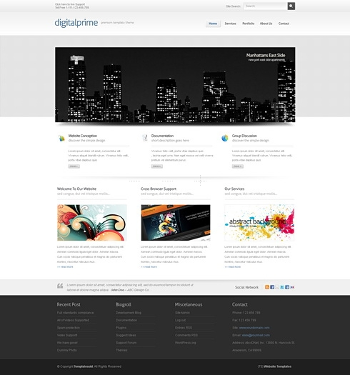 Template Image for DigitalPrime 3D - HTML Template