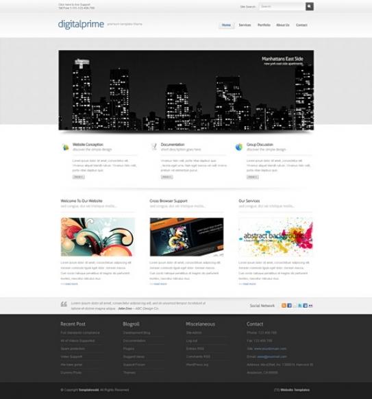 3D Website Themes