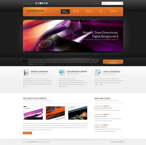 Template Image for ModulTheme 3D - HTML Template