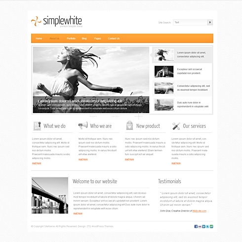 Template Image for SimpleWhite - WordPress Template