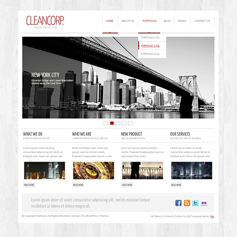 Template Image for CleanCorp - WordPress Template