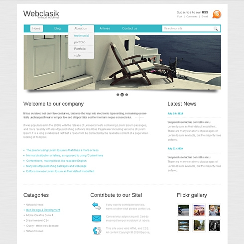 Template Image for ClearLayout - WordPress Theme