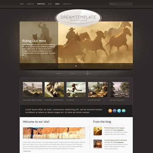 Template Image for Heritage - WordPress Theme