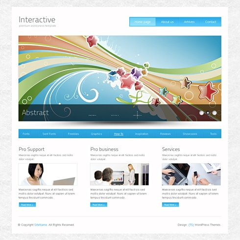Template Image for InterActive - WordPress Theme