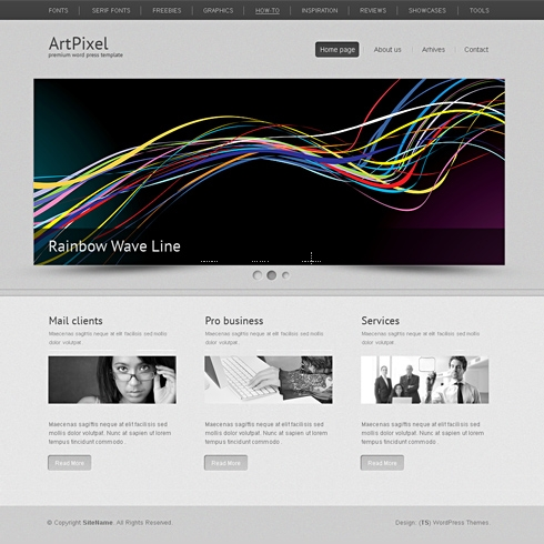 Template Image for ArtPixel - WordPress Theme