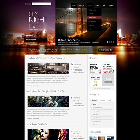 Template Image for CityNight - WordPress Theme