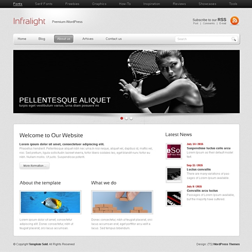 Template Image for InfraLight - WordPress Theme
