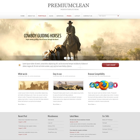 Template Image for CleanWide - WordPress Theme