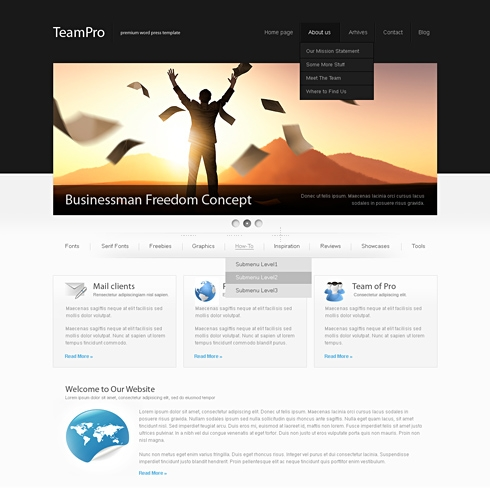 Template Image for BlackCorp - WordPress Template