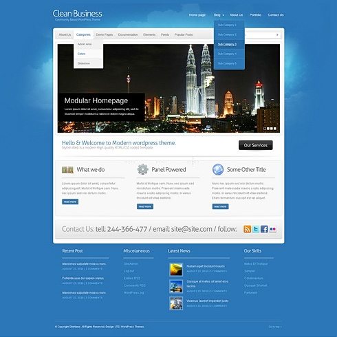 Template Image for Avatar - WordPress Template