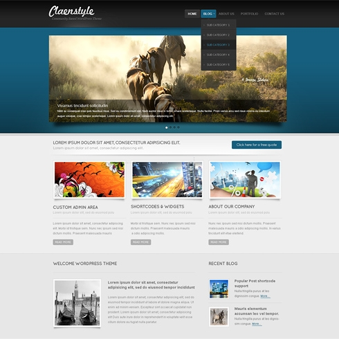 Template Image for BlueZone - WordPress Template