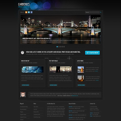 Template Image for Carbonics - WordPress Template