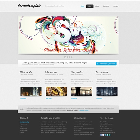 Template Image for WonderWhite - WordPress Template