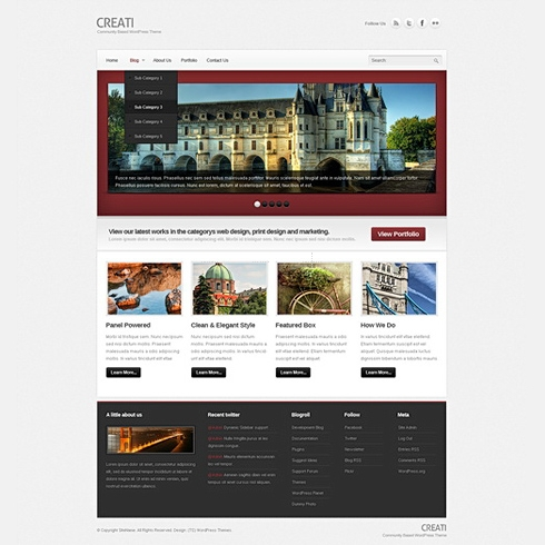 Template Image for RedFrame - WordPress Template