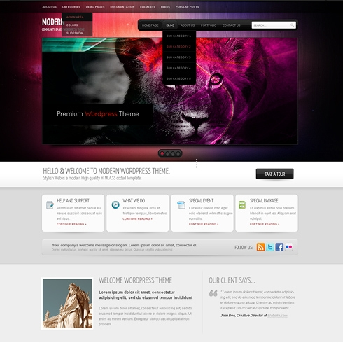 Template Image for Infusion - WordPress Template