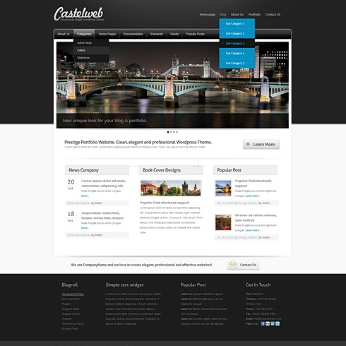 Template Image for Fortress - WordPress Template
