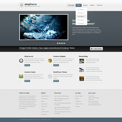 Template Image for Expression - WordPress Theme