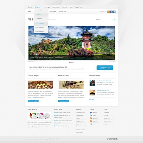 Template Image for MiniMalistic - WordPress Template