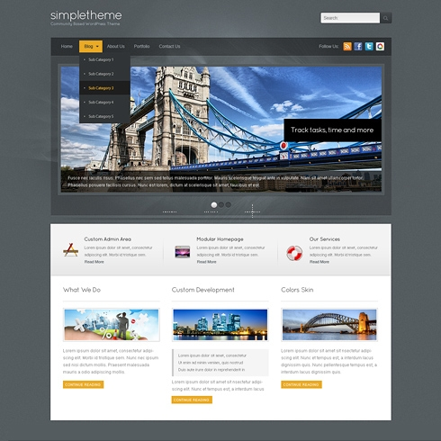 Template Image for GrayFox - WordPress Template